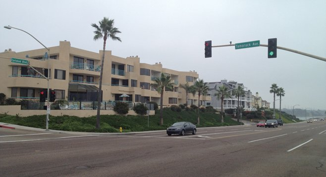 Corner of Tamarack and Carlsbad Boulevard