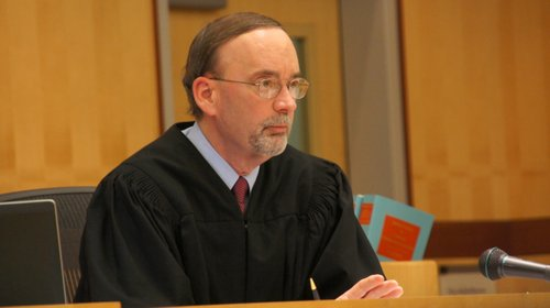 Judge Kirkman ordered 2 yrs prison for hit-and-run driver.  Photo Weatherston.