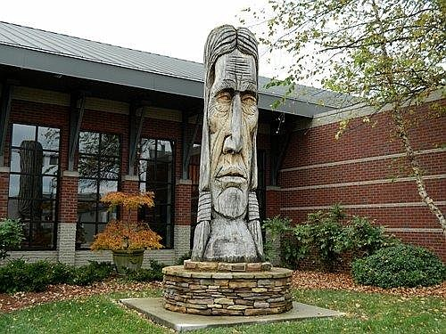Cherokee chieftain statue in nearby Cleveland, TN.