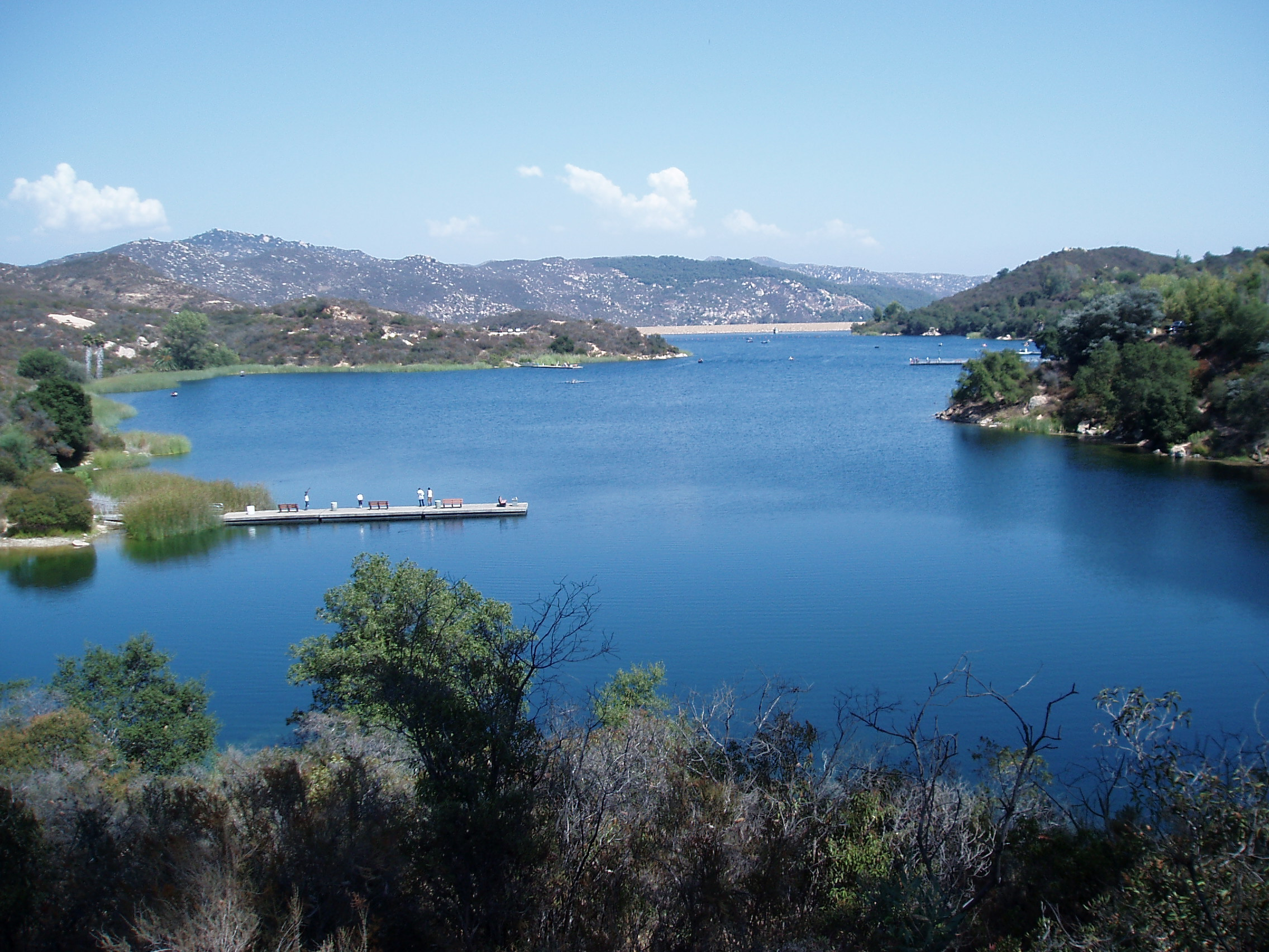 Dixon Lake in Escondido. A great getaway that's only an hour away from San Diego. There's fishing, hiking, camping, picnicking and paddle boating, not to mention great photo opportunities.