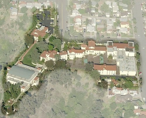 Aerial view of Our Lady of Peace academy grounds