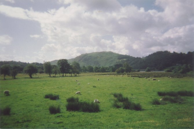 Pastoral scene in England's Lake District.