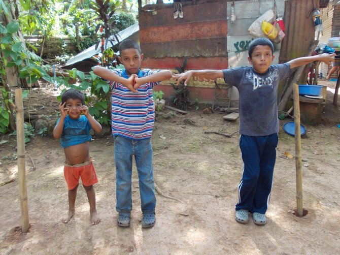 Three boys from La Chumicosa. (Coclé, Panama)