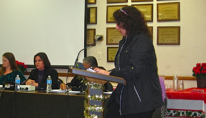 Maty Adato at the December 10, 2012, board meeting