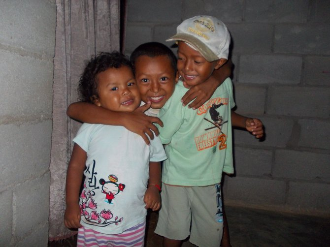 Madalaney with my host brothers Ormelis and Angel. Cocle, Panama.