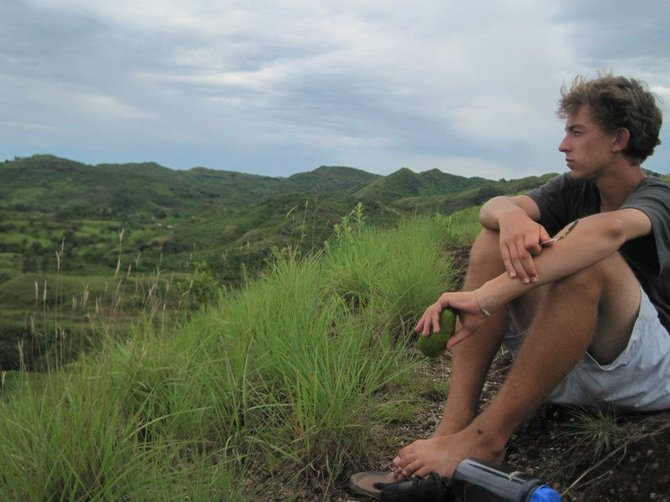 Thinking at the top of Loma Blanca. Cocle, Panama