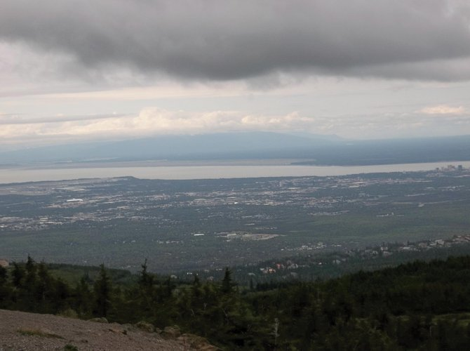 The best view in Anchorage is from Flattop Mountain.