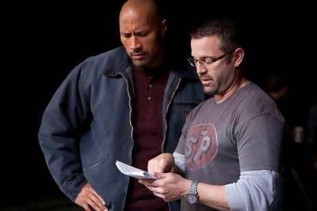 Dwayne Johnson and Ric Roman Waugh.