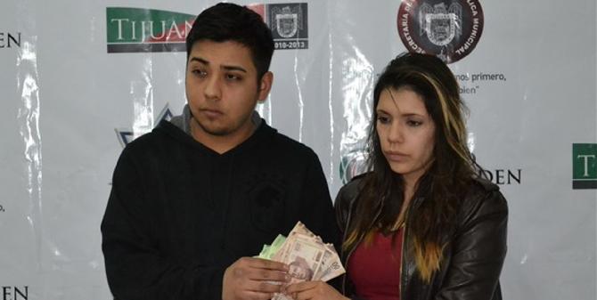 Police photo of Antonio de Jesús Valdovinos Ruiz and Ana Guadalupe Gutiérrez Montes