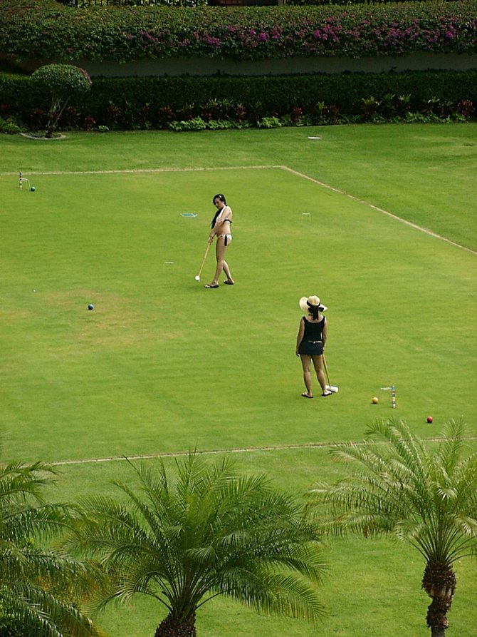 Croquet at Four Seasons, Wailea, Maui.