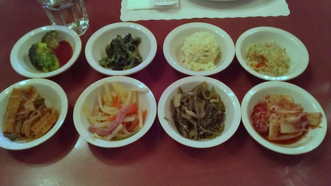 Plentiful *banchan* at Korea BBQ House