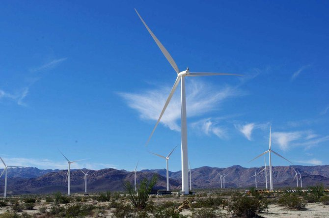 Windmill farm Ocotillo, CA