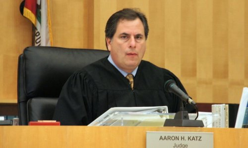 Hon. Judge Aaron Katz ordered the gangster to pay restitution.  Photo Weatherston.