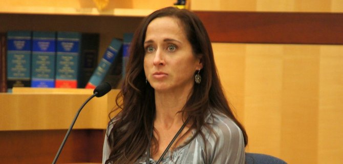 Oceanside police detective Karla Williams investigated.  Photo Weatherston.