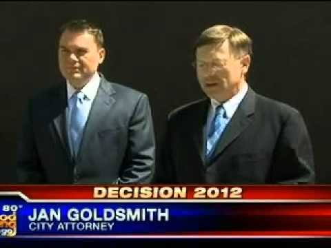 San Diego GOP City Attorney Jan Goldsmith with defeated Republican mayor candidate Carl DeMaio