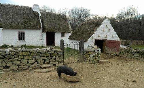 Recreation of a 1700s Irish-immigrant homestead.