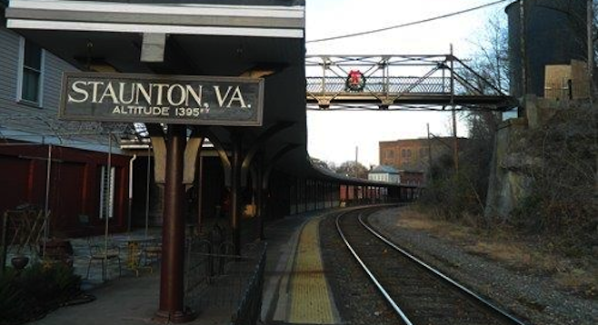 In use since the Civil War era, the Staunton train stop is a four-hour Amtrak ride from Washington, D.C.