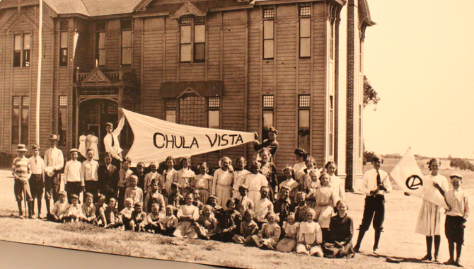 Chula Vista's first elementary school, c. 1900