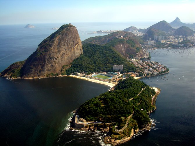 Guanabara Bay, Rio de Janeiro. Taken from an airplane in May 2012.