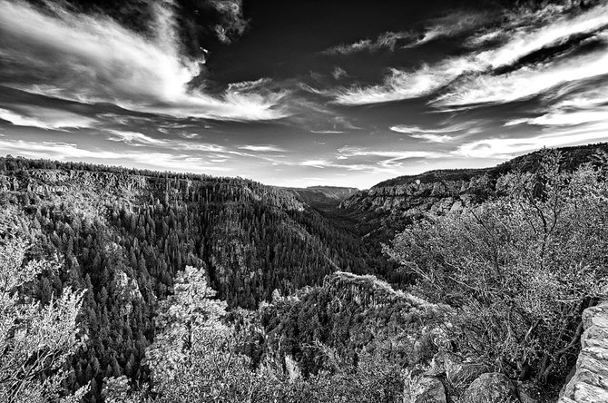 View of Oak Creek Canyon just outside Sedona.