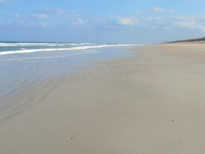 Beach solitude.
