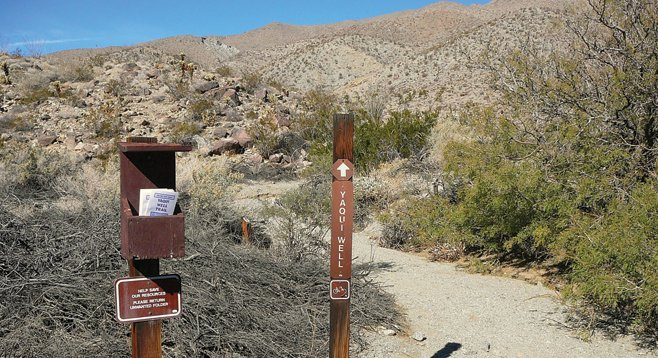 The Yaqui Well trailhead is well-marked and stocked with interpretive literature to help hikers have a better understanding of this desert area.