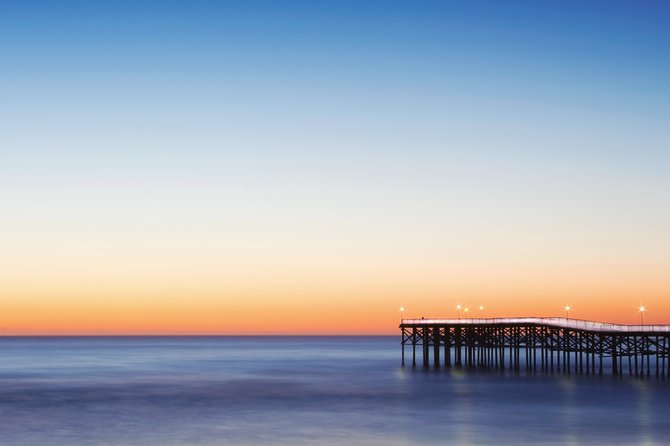 Pacific Beach's Crystal Pier just after sunset.