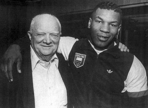 Cus d'Amato and Mike Tyson.