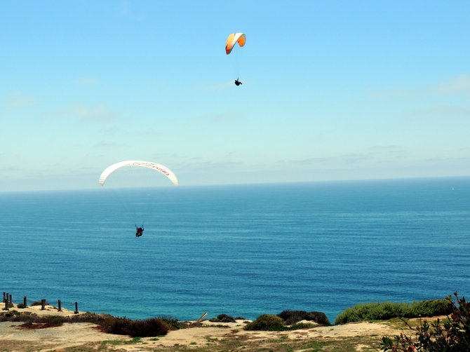 Local travel: gliderport at Torrey Pines.