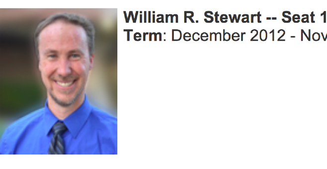 Bill Stewart served as a Southwestern trustee for four months.