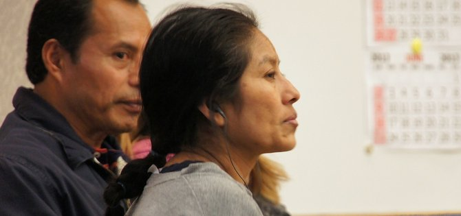 Inez Martinez Garcia pleads not guilty. Photo Weatherston.
