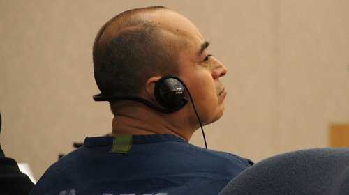Uncle Marcial Garcia Hernandez pleads not guilty. Photo Weatherston.