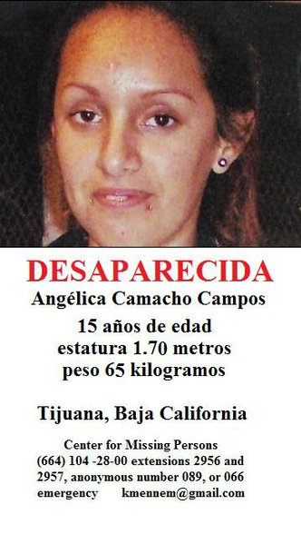 Missing 15 Year Old Girl Found: Missing 15 Year Old Tijuana Girl Sought