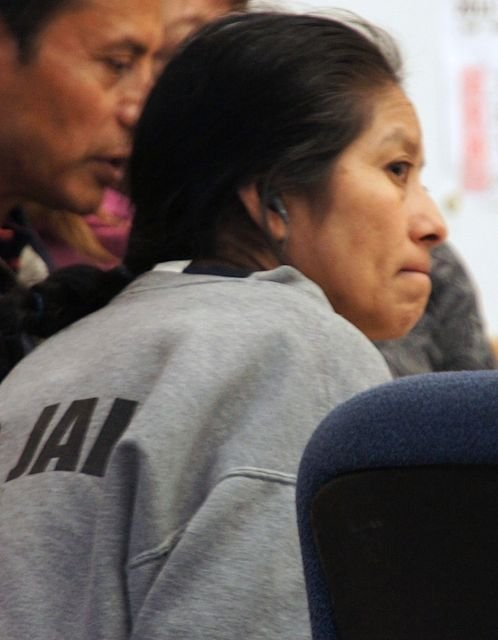 Aunt Inez denies all charges. Photo Weatherston.