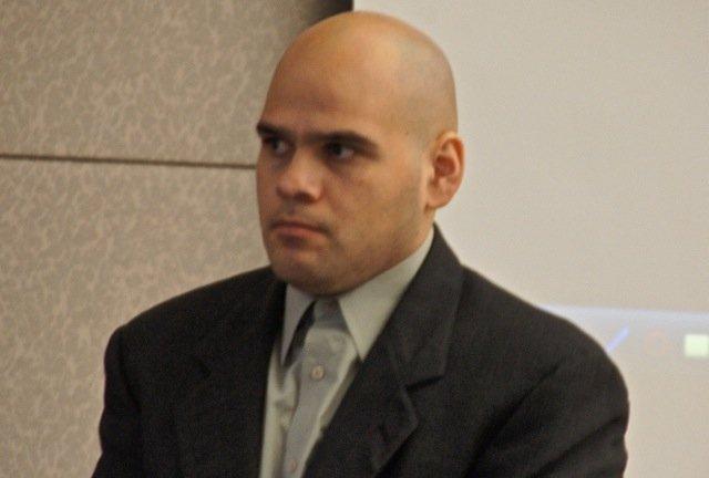 Efrain Cornejo pleads not guilty. Photo Bob Weatherston.