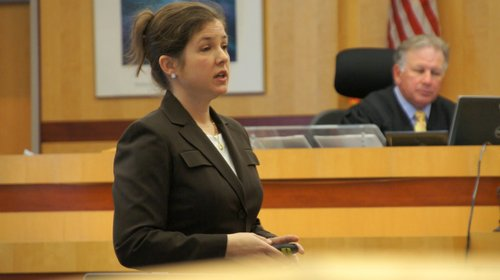 Prosecutor Patricia Lavermicocca said the baby was viciously beaten.  Photo Weatherston.