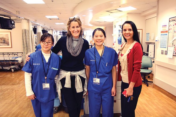 University High School interns at Veterans Medical Center with their teacher Ellie Vandiver (second from 