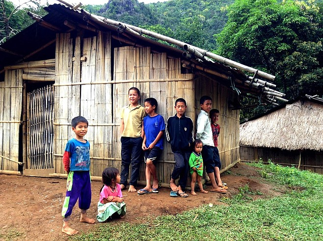 Village kids in the mountains of northern Laos.