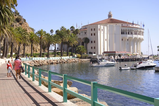 """Catalina Island """"pedestrian walk to the casino"""" as photographed by Robert Chartier"""