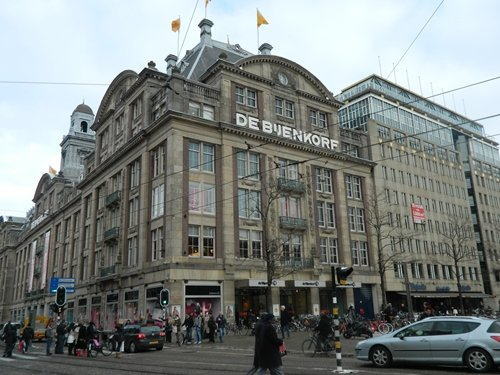 Bijenkorf's flagship store on Dam Square.