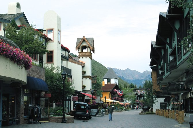 Bustling downtown Vail, Colorado