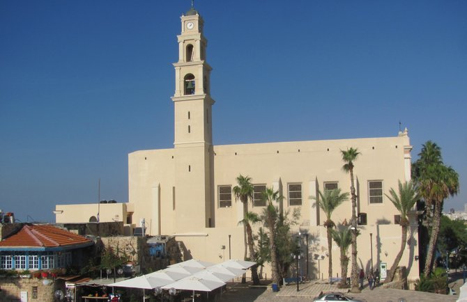 The 17th-century St. Peter's Church in old Jaffa.