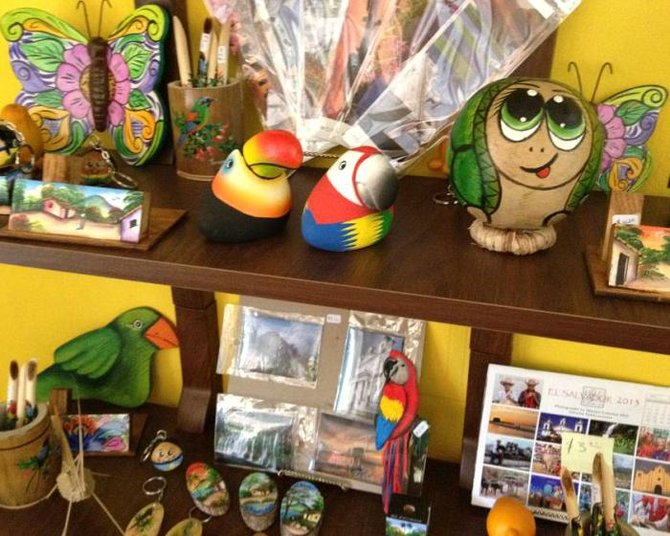 Eco-Friendly Shop at Hotel.  All items are made locally.