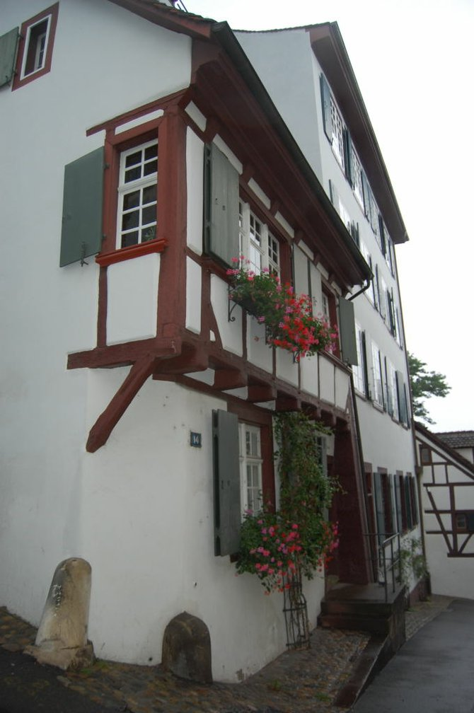 A medieval home that is still lived in at Basel's well-preserved Old Town.