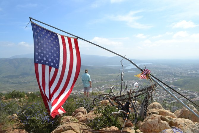 Proud American and San Diego Resident San Miguel Mountain, Jamul, CA