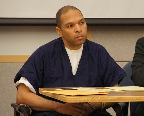 Louis Ray Perez pleads not guilty.  Photo Weatherston.