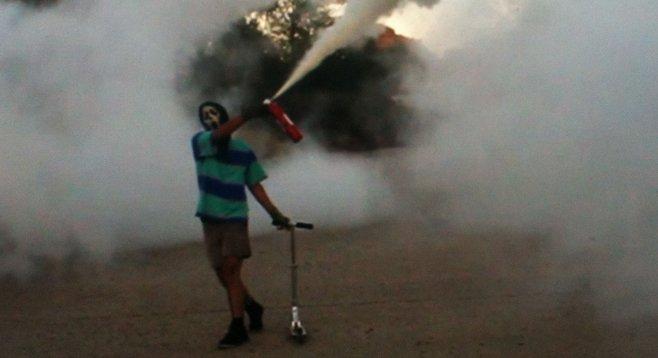 "Matt Bahamas: ""Those fire extinguishers...caused a bit of panic."""