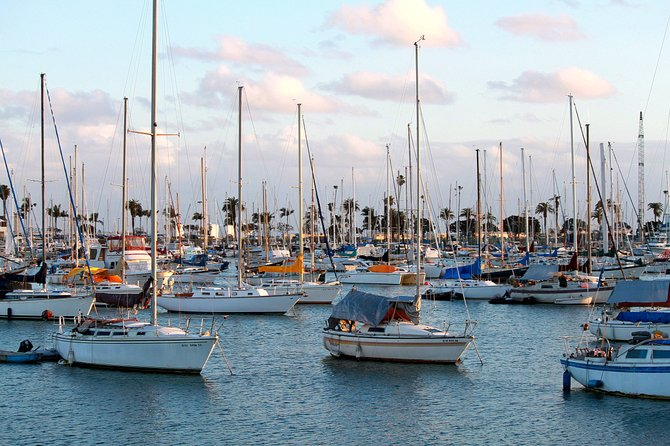 Harbor in Point Loma at sunset