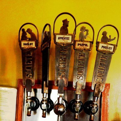 Societe Brewery taps at Alchemy, Photo by Alchemy