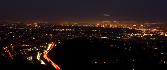 Night view from Mount Soledad